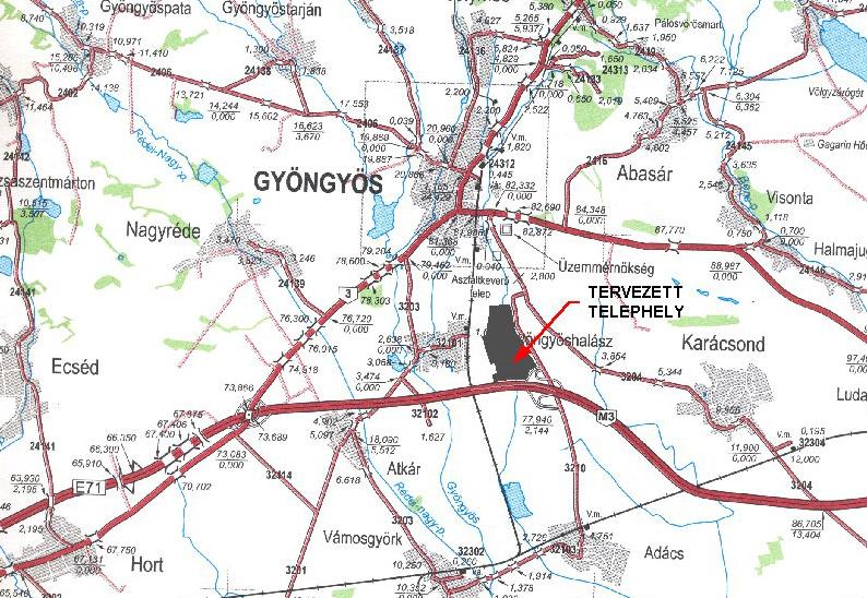 gyöngyös térkép Gyöngyös Ipari Park Fejlesztő Kft. gyöngyös térkép